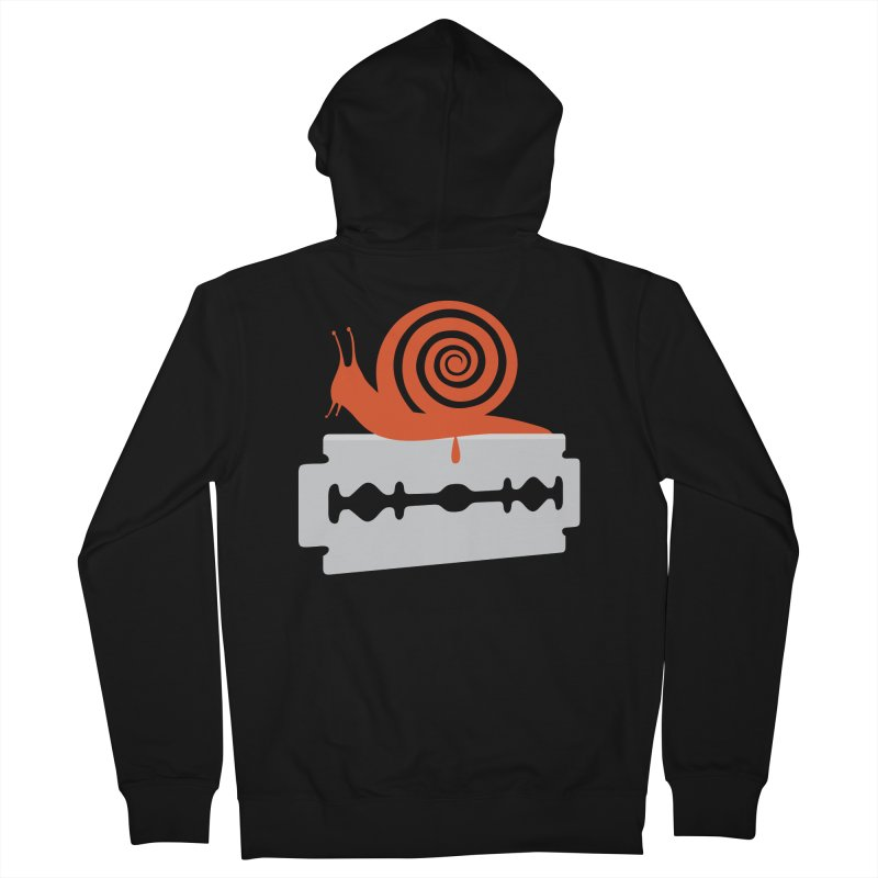 The Horror Men's French Terry Zip-Up Hoody by Chick & Owl Artist Shop
