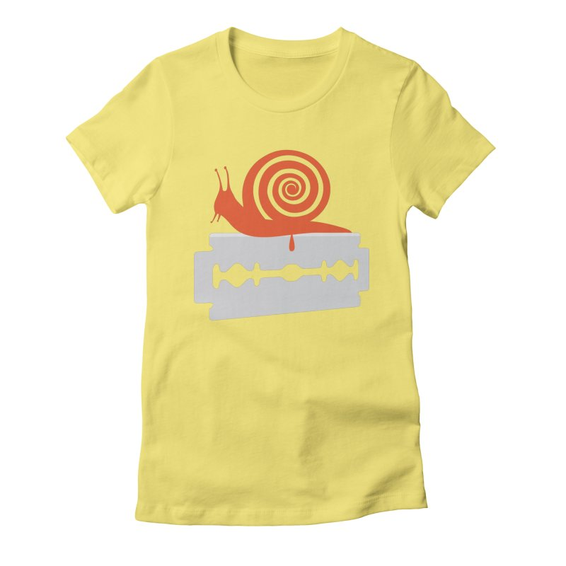The Horror Women's Fitted T-Shirt by Chick & Owl Artist Shop