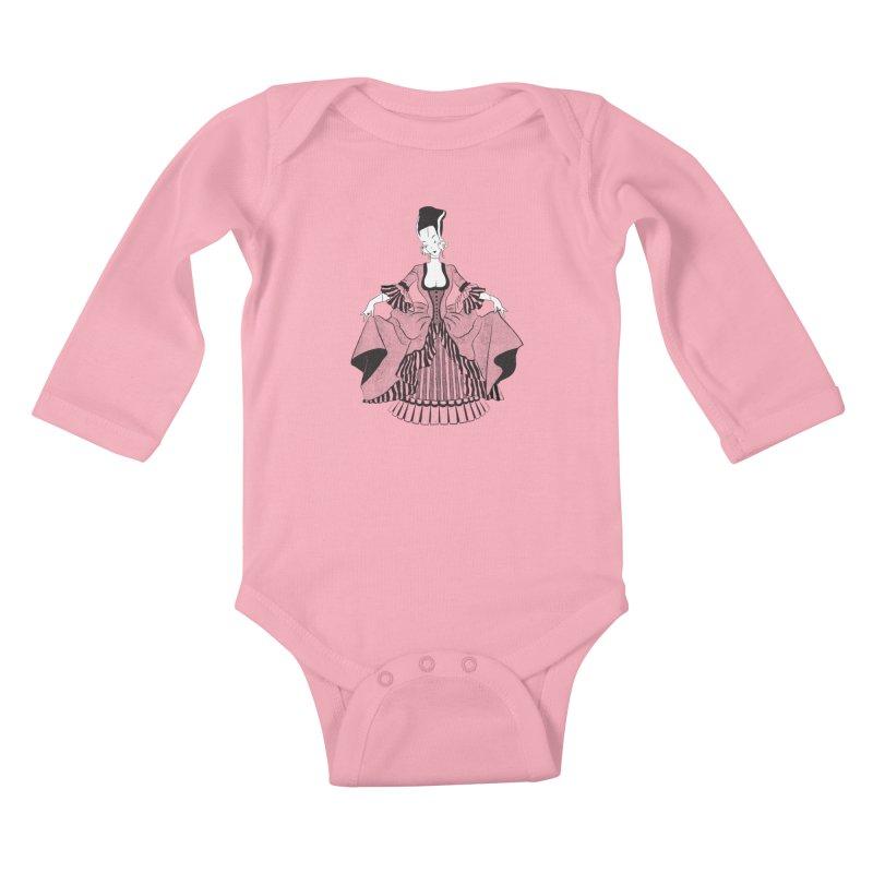 Bride of Frankie Kids Baby Longsleeve Bodysuit by Chick & Owl Artist Shop