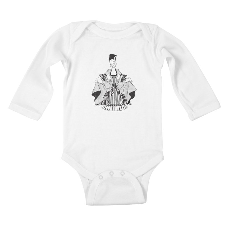 Bride of Frankie Kids Baby Longsleeve Bodysuit by Chick & Owl Artist Shop