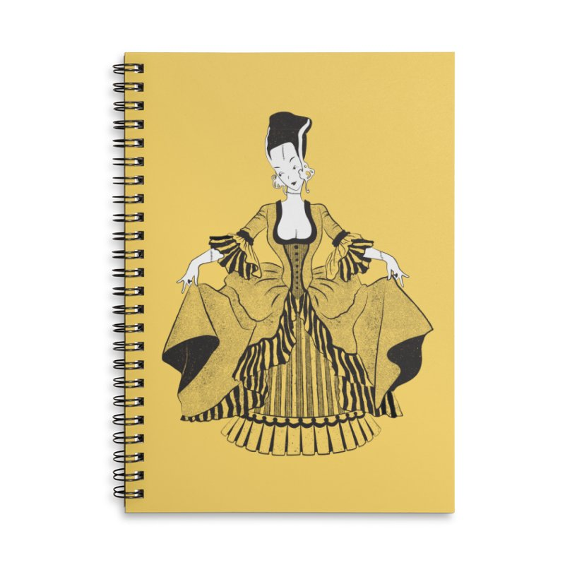 Bride of Frankie Accessories Lined Spiral Notebook by Chick & Owl Artist Shop