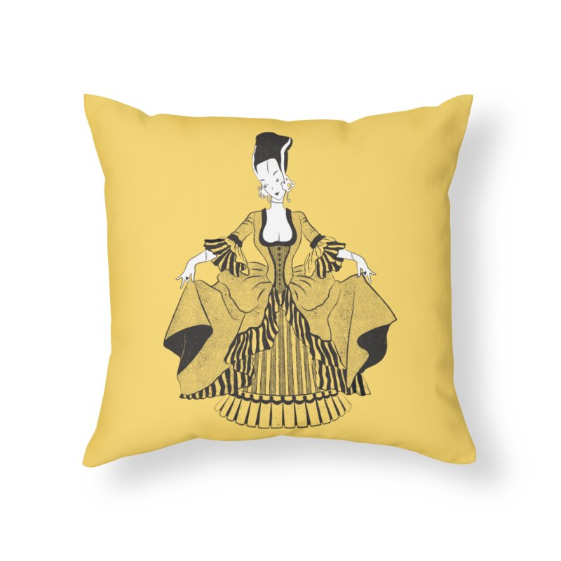 Bride of Frankie Home Throw Pillow by Chick & Owl Artist Shop