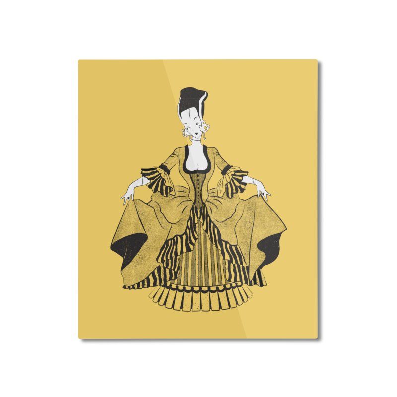 Bride of Frankie Home Mounted Aluminum Print by Chick & Owl Artist Shop