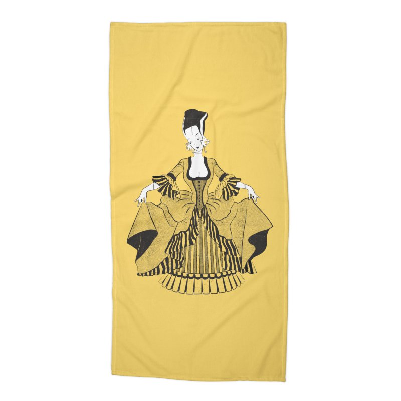 Bride of Frankie Accessories Beach Towel by Chick & Owl Artist Shop