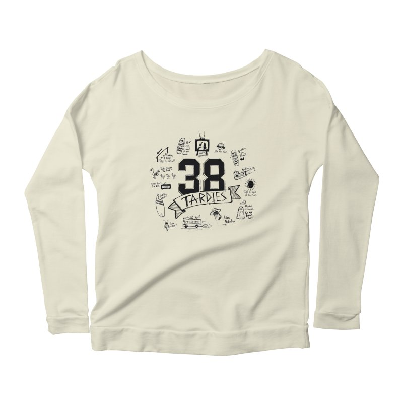 38 Tardies Women's Scoop Neck Longsleeve T-Shirt by Chick & Owl Artist Shop