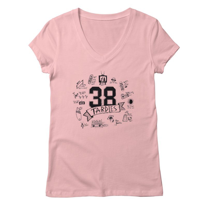 38 Tardies Women's Regular V-Neck by Chick & Owl Artist Shop