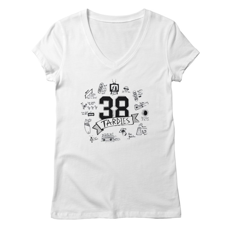38 Tardies Women's V-Neck by Chick & Owl Artist Shop