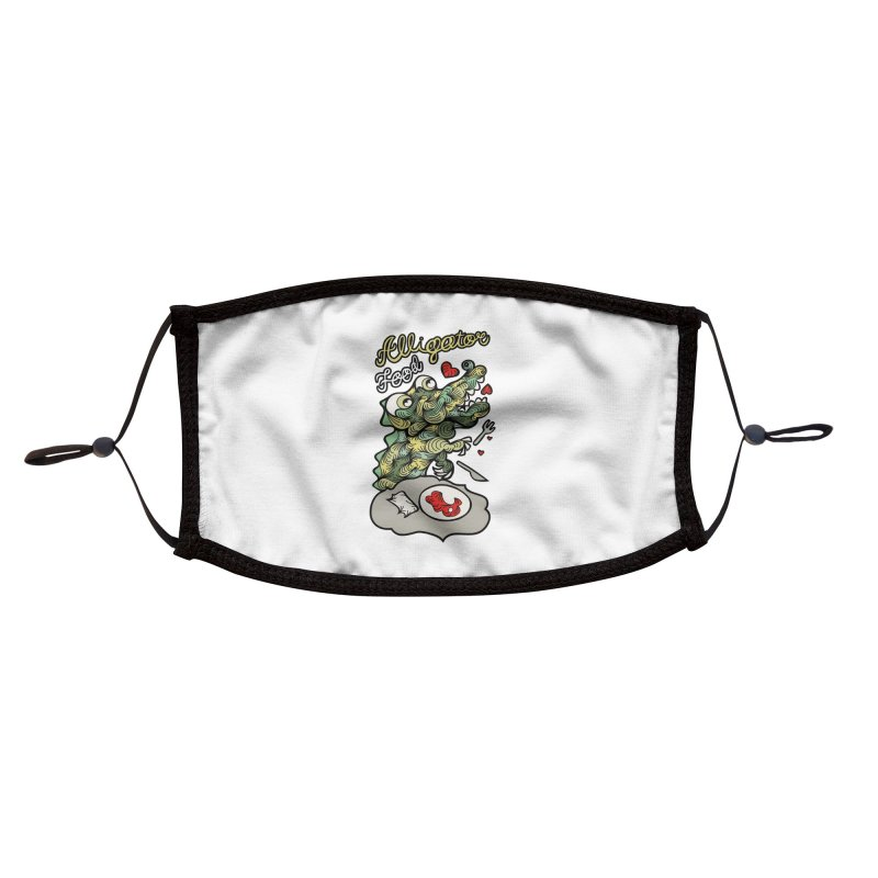 Alligator Food Accessories Face Mask by Chickenbilly's Artist Shop