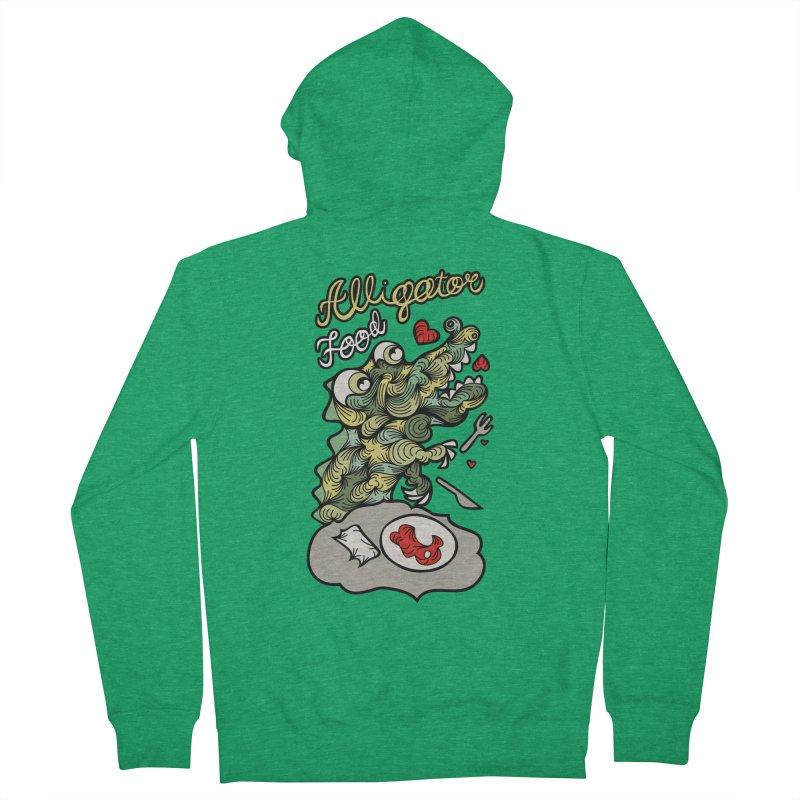 Alligator Food Men's Zip-Up Hoody by Chickenbilly's Artist Shop