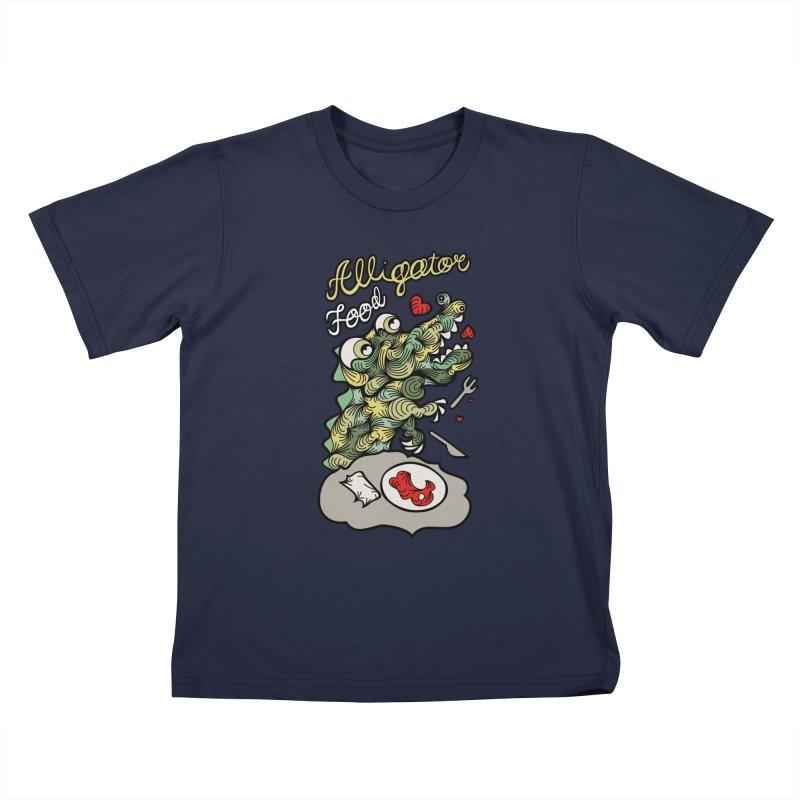 Alligator Food Kids T-Shirt by Chickenbilly's Artist Shop