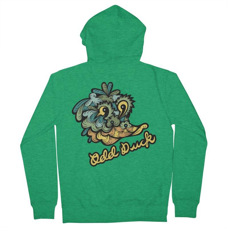 Odd Duck Men's Zip-Up Hoody by Chickenbilly's Artist Shop