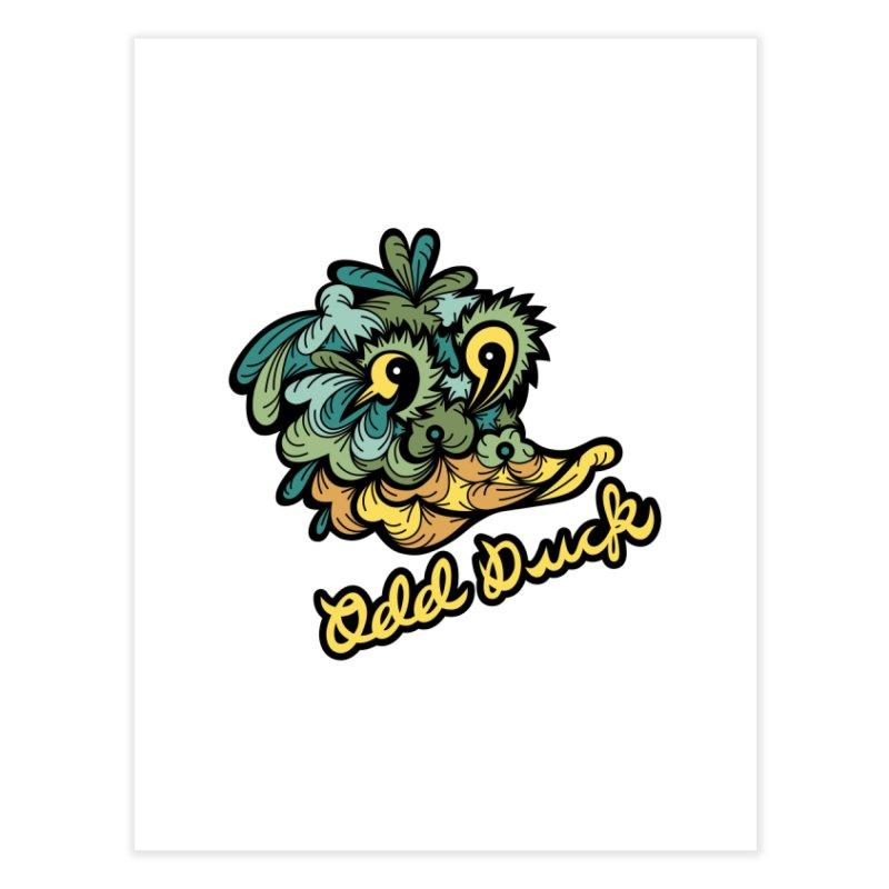 Odd Duck Home Fine Art Print by Chickenbilly's Artist Shop