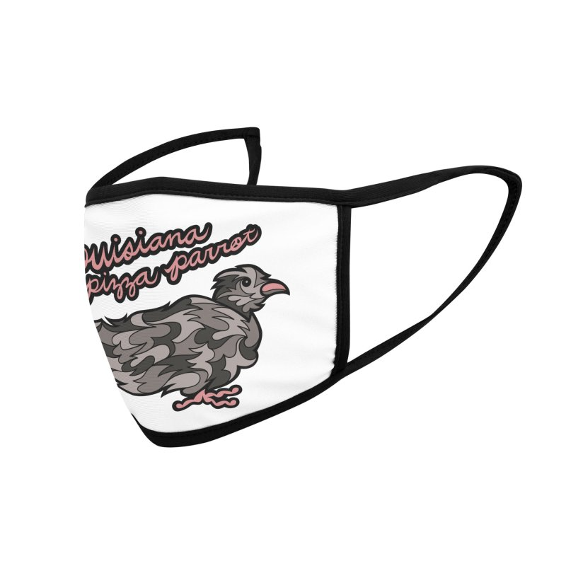 Louisiana Pizza Parrot Accessories Face Mask by Chickenbilly's Artist Shop