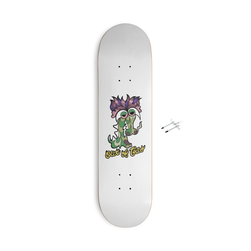 Out of Gas - Dragon Accessories Skateboard by Chickenbilly's Artist Shop