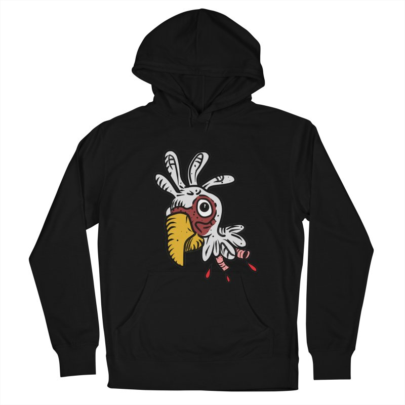 Chicken Head Men's French Terry Pullover Hoody by Chicken Outfit Tees