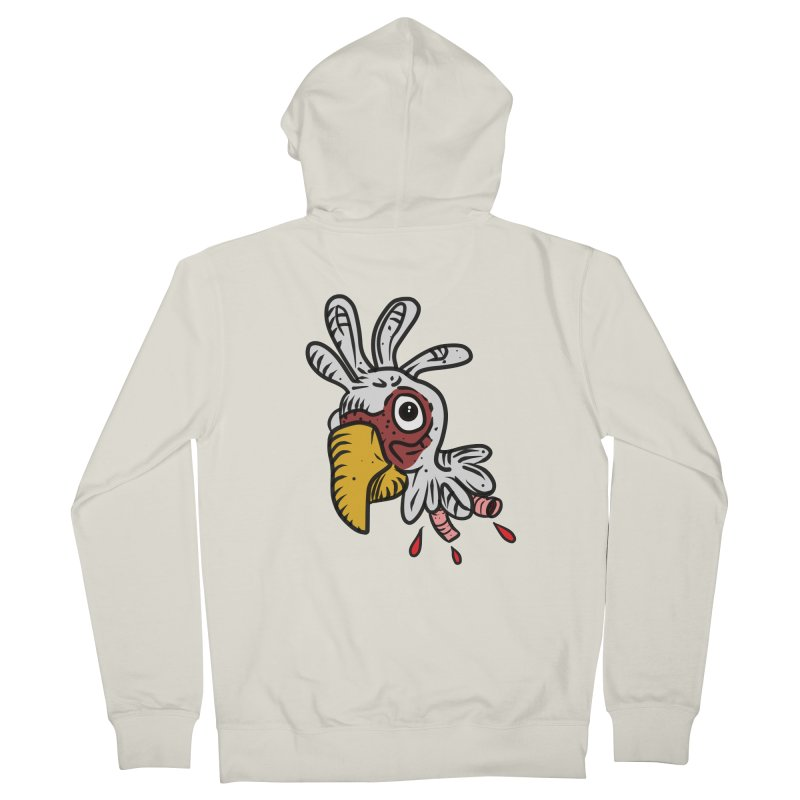 Chicken Head Women's French Terry Zip-Up Hoody by Chicken Outfit Tees
