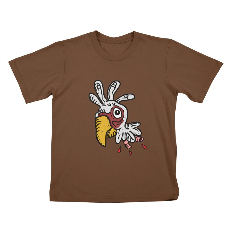 Chicken Head Kids T-shirt by Chicken Outfit Tees