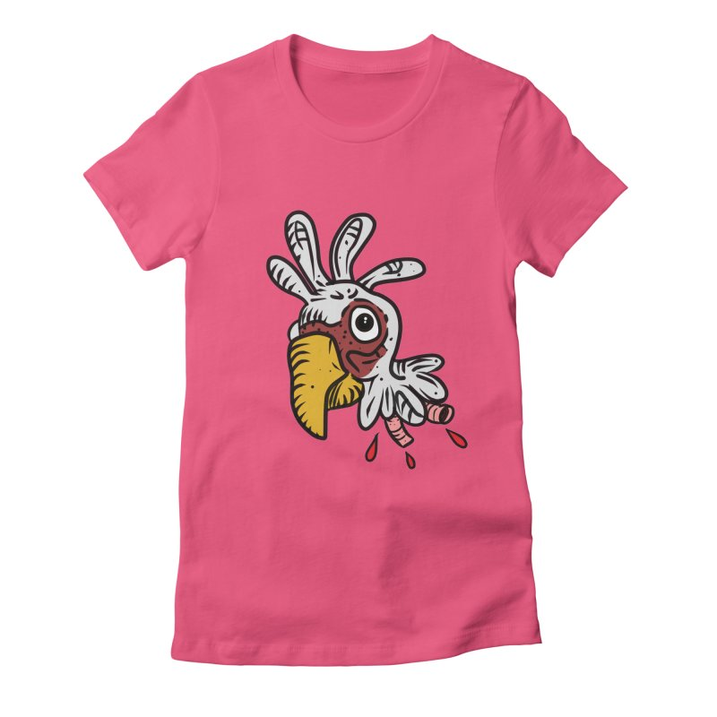 Chicken Head Women's Fitted T-Shirt by Chicken Outfit Tees