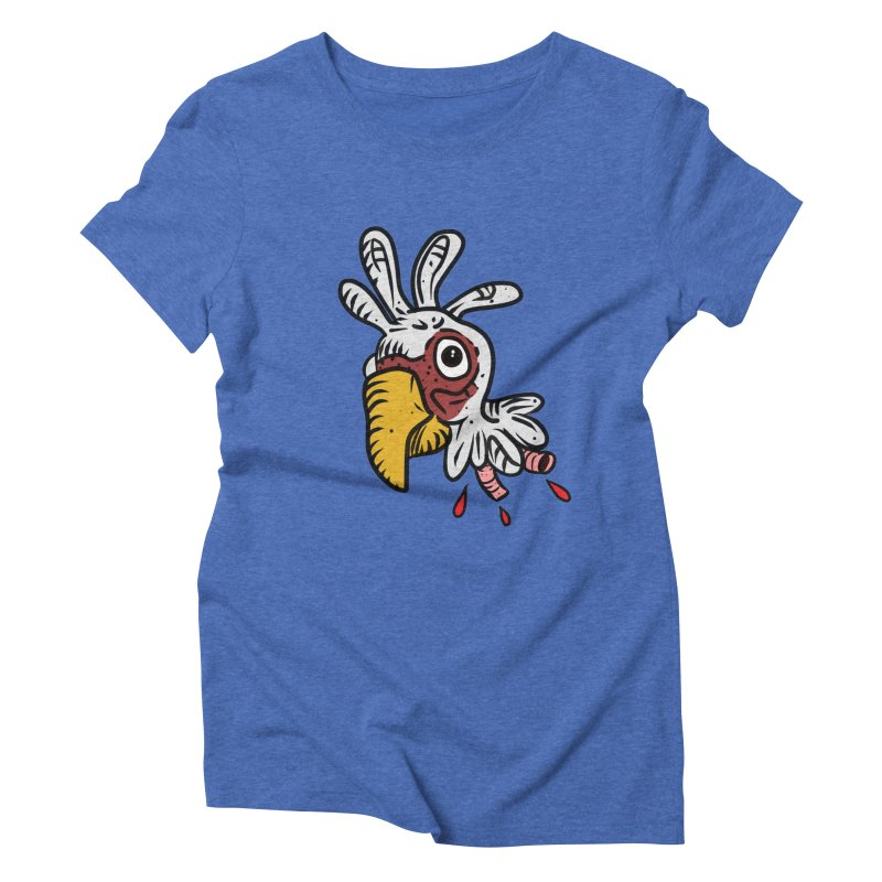 Chicken Head Women's Triblend T-Shirt by Chicken Outfit Tees