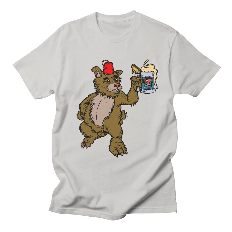 Lokys The Drunk Bear Men's T-Shirt by Chicken Outfit Tees