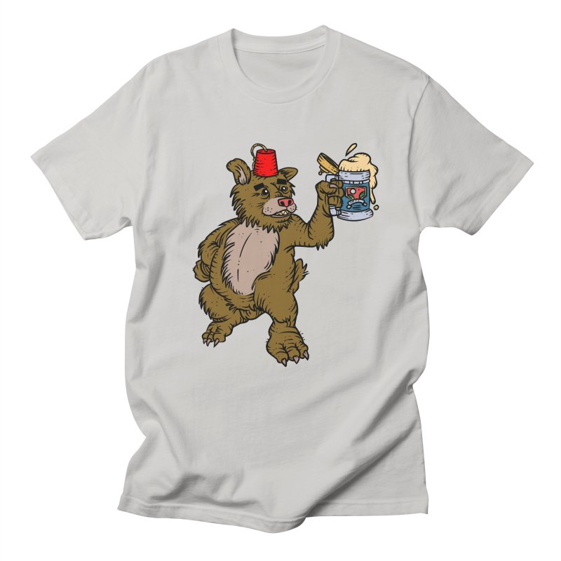 Lokys The Drunk Bear Men's Regular T-Shirt by Chicken Outfit Tees