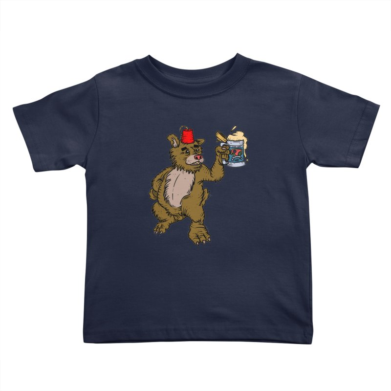 Lokys The Drunk Bear Kids Toddler T-Shirt by Chicken Outfit Tees