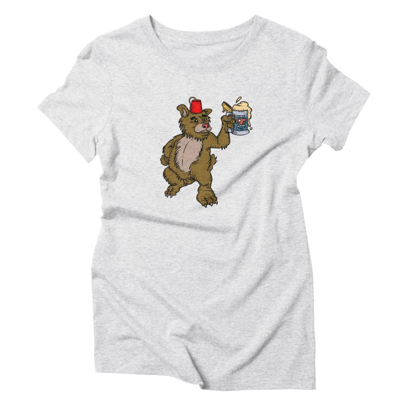 Lokys The Drunk Bear Women's T-Shirt by Chicken Outfit Tees