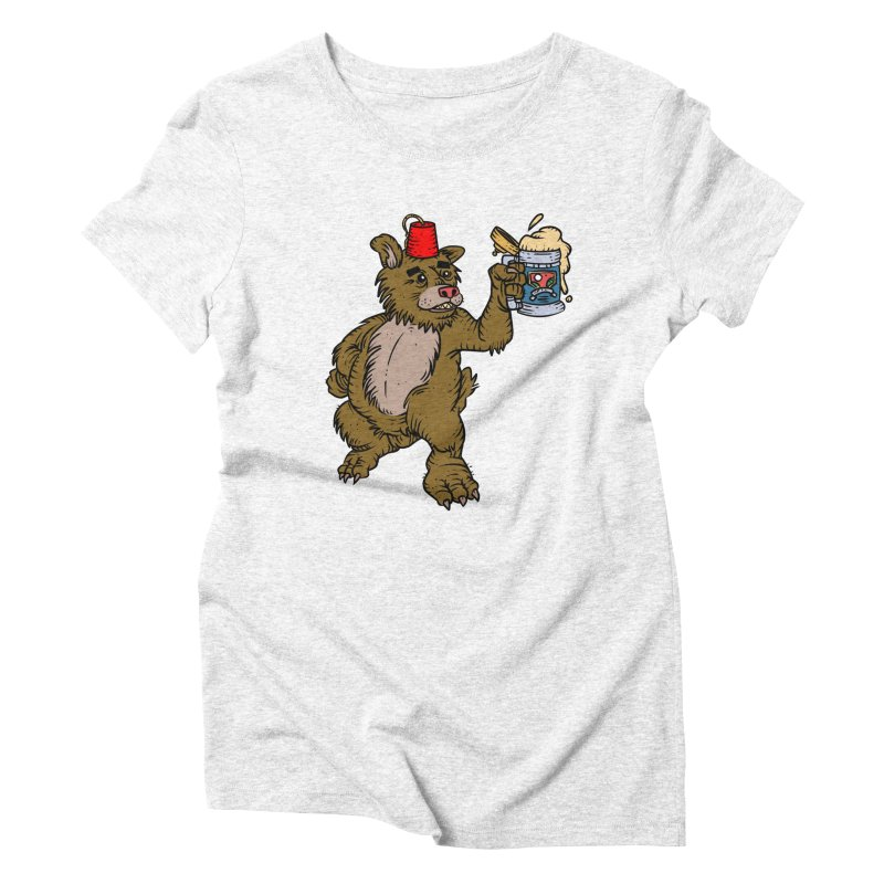 Lokys The Drunk Bear Women's Triblend T-shirt by Chicken Outfit Tees