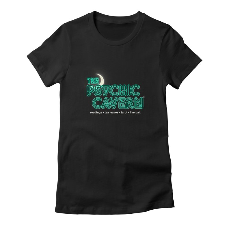 The Psychic Cavern Women's Fitted T-Shirt by Chicken Outfit Tees