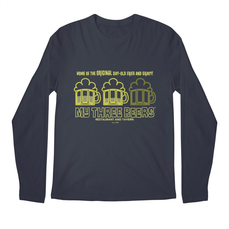 My Three Beers Men's Longsleeve T-Shirt by Chicken Outfit Tees