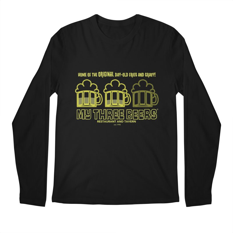 My Three Beers Men's Regular Longsleeve T-Shirt by Chicken Outfit Tees