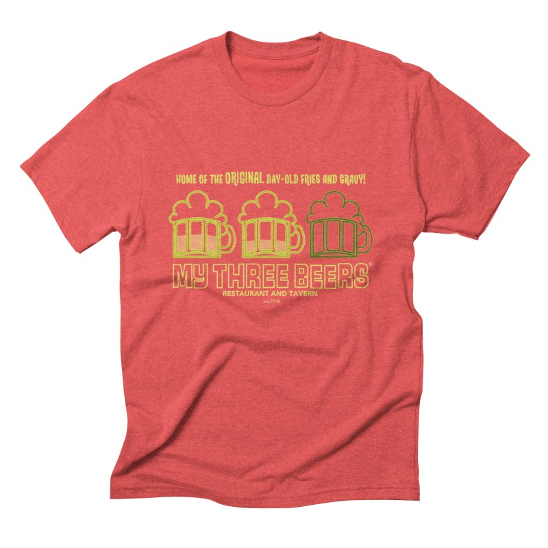 My Three Beers Men's Triblend T-Shirt by Chicken Outfit Tees