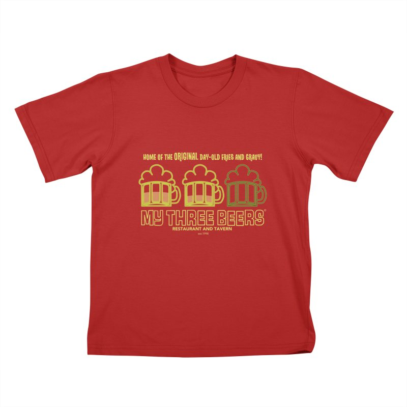 My Three Beers Kids T-shirt by Chicken Outfit Tees