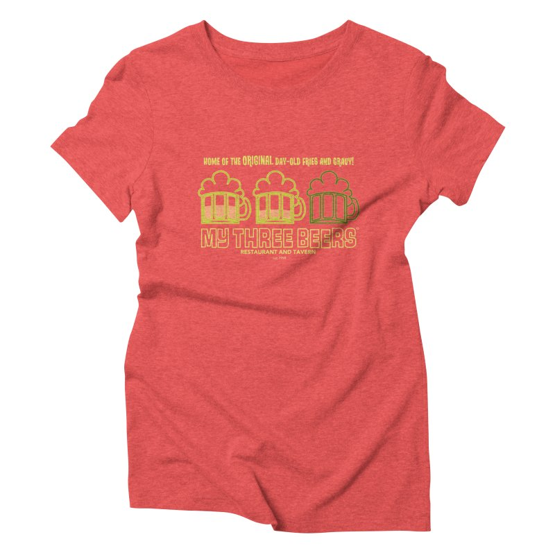 My Three Beers Women's Triblend T-Shirt by Chicken Outfit Tees