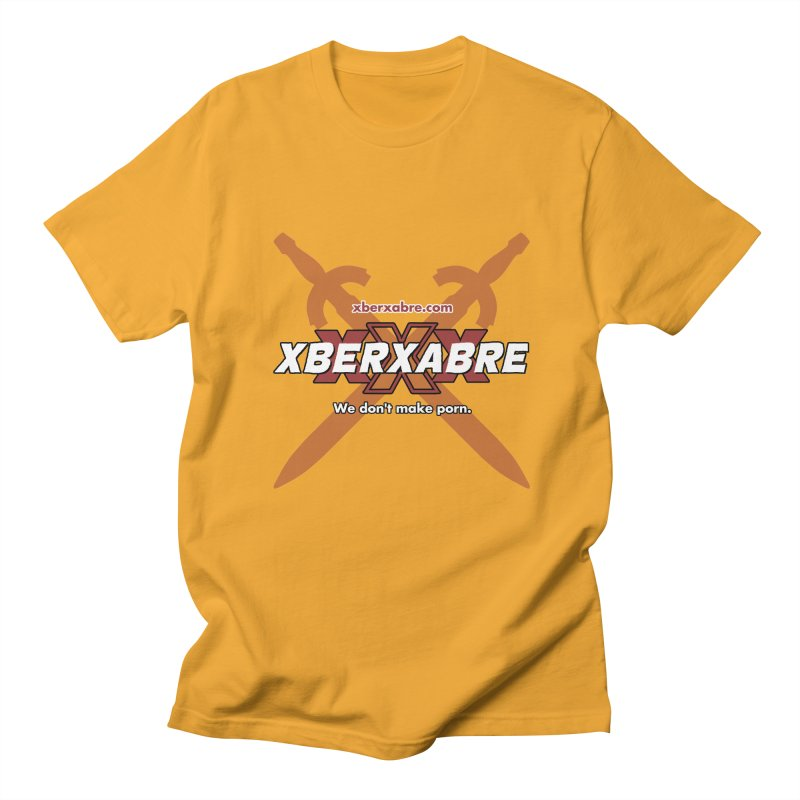 Xber Xabre Corporate Shirt in Men's Regular T-Shirt Gold by Chicken Outfit Tees