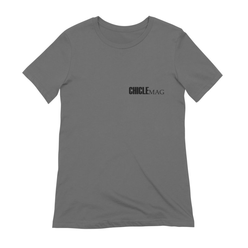 CHICLE MAG LOGO BLACK mini Women's T-Shirt by CHICLE MAG