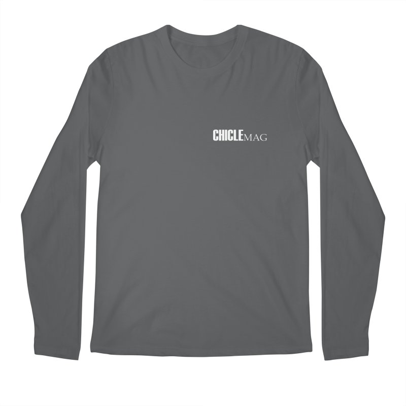 CHICLE MAG LOGO WHITE mini Men's Longsleeve T-Shirt by CHICLE MAG