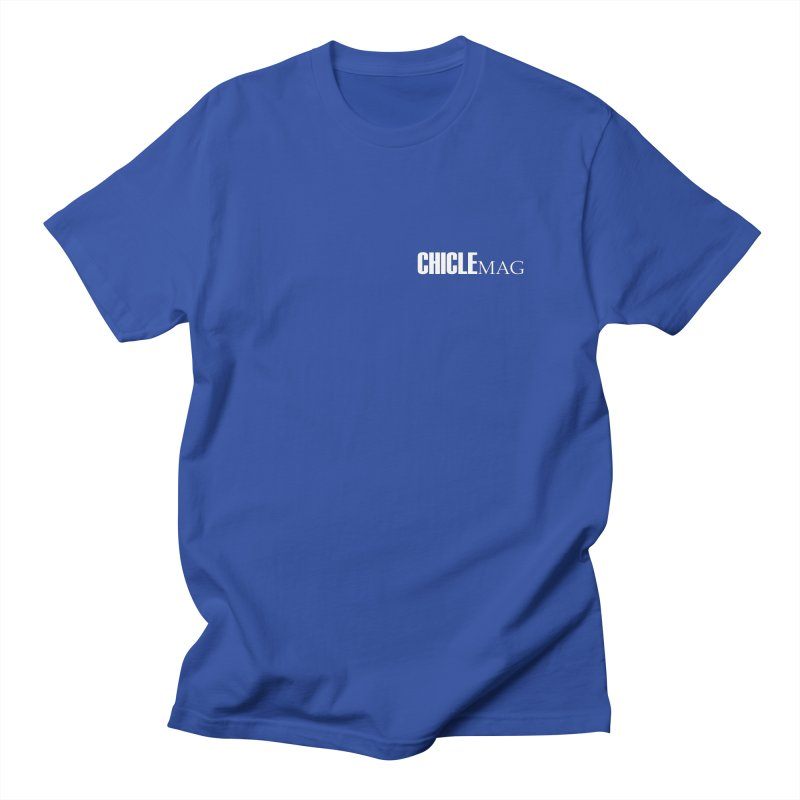 CHICLE MAG LOGO WHITE mini Men's T-Shirt by CHICLE MAG