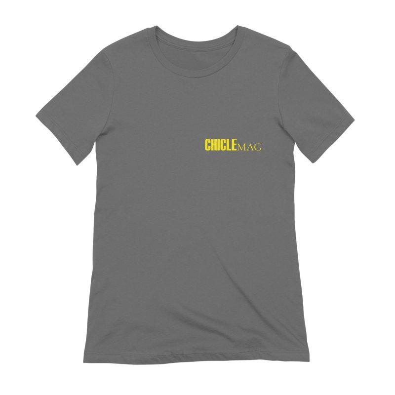 CHICLE MAG LOGO YELLOW mini Women's T-Shirt by CHICLE MAG