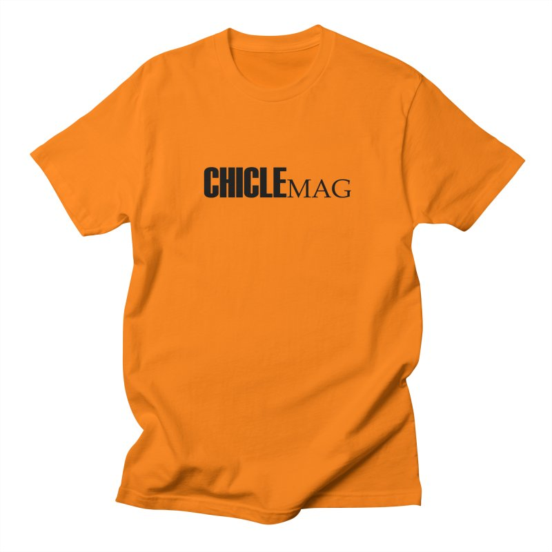 CHICLE MAG LOGO BLACK Men's T-Shirt by CHICLE MAG