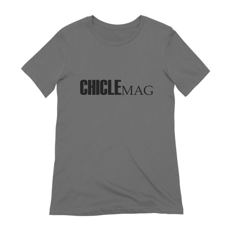 CHICLE MAG LOGO BLACK Women's T-Shirt by CHICLE MAG