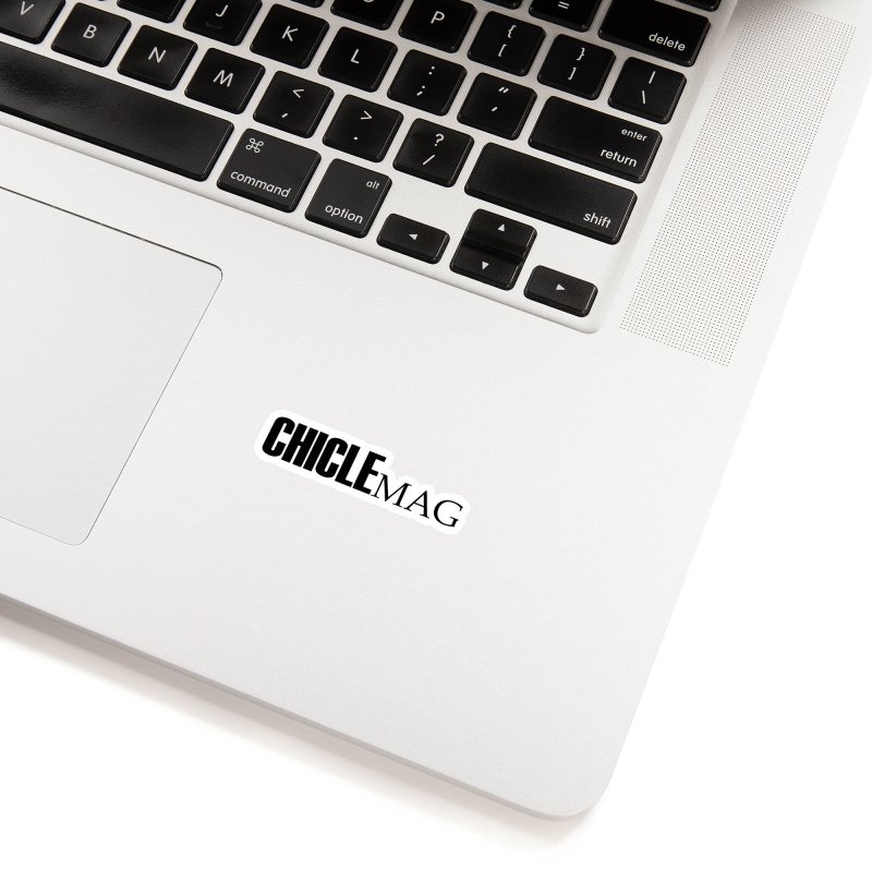 CHICLE MAG LOGO BLACK Accessories Sticker by CHICLE MAG