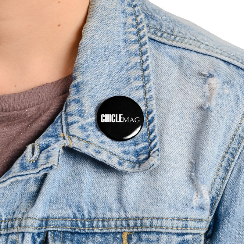 CHICLE MAG LOGO WHITE Accessories Button by CHICLE MAG
