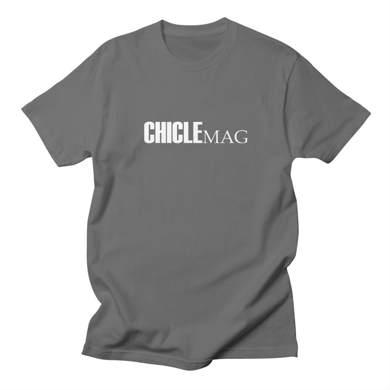 CHICLE MAG LOGO WHITE Men's T-Shirt by CHICLE MAG