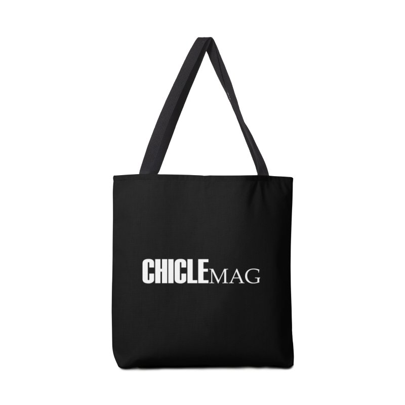CHICLE MAG LOGO WHITE Accessories Bag by CHICLE MAG