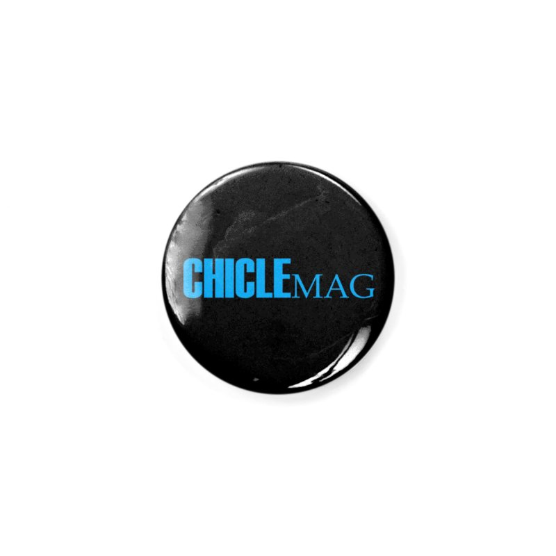 CHICLE MAG LOGO CYAN Accessories Button by CHICLE MAG