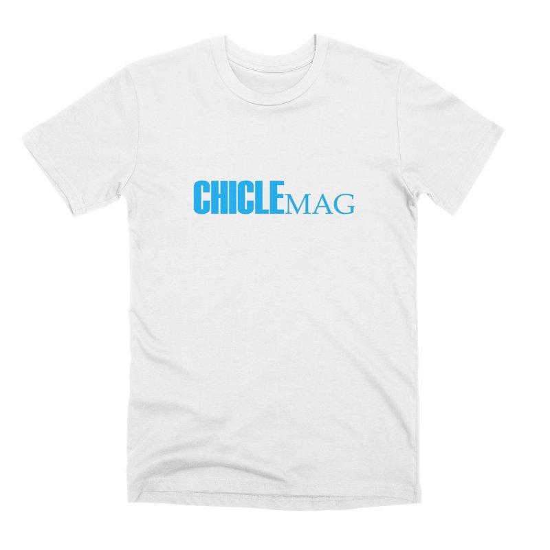 CHICLE MAG LOGO CYAN Men's T-Shirt by CHICLE MAG