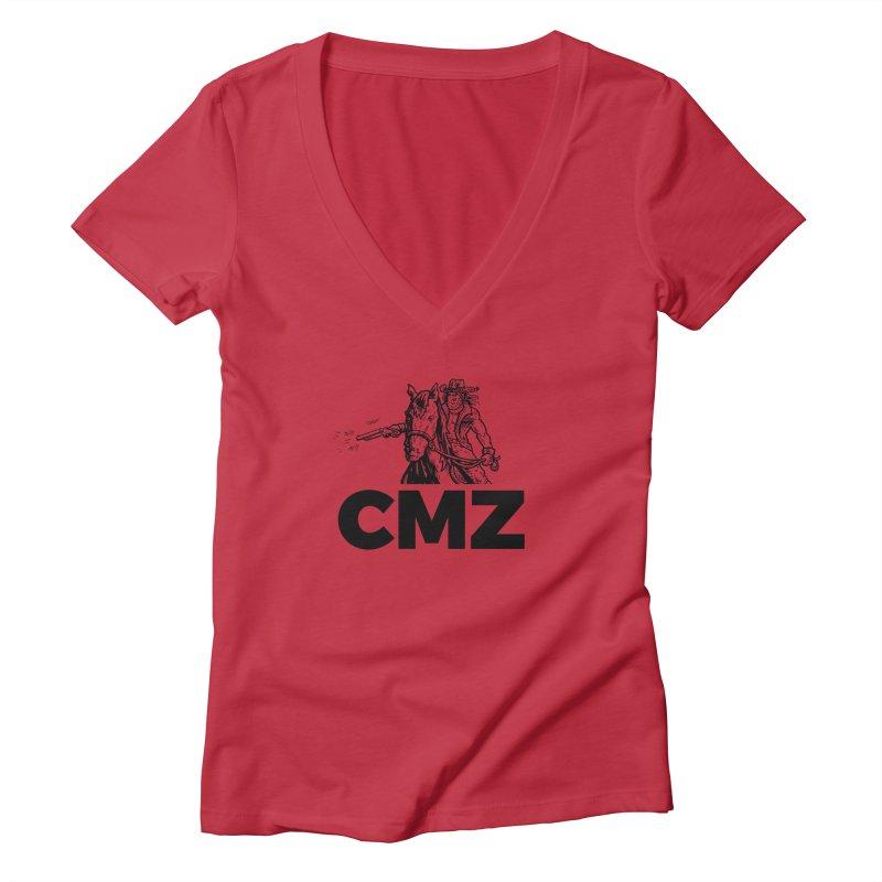 CMZ Women's Deep V-Neck V-Neck by Chimpman-Z Shop
