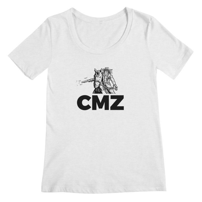 CMZ Women's Regular Scoop Neck by Chimpman-Z Shop