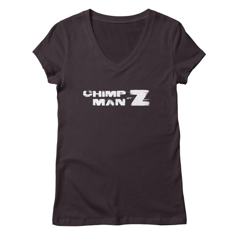 CMZ Grunge Logo Women's Regular V-Neck by Chimpman-Z Shop